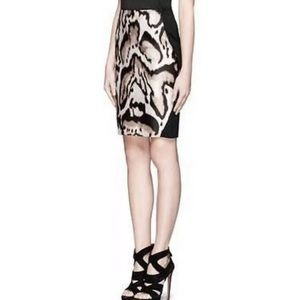 DVF Mae Mikado Animal Print Pencil Skirt Leopard